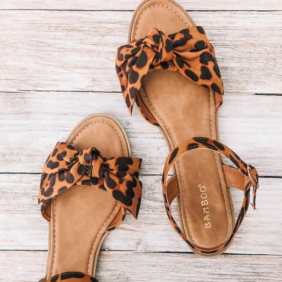 BAMBOO Shoes   Leopard Sandals   Poshmark